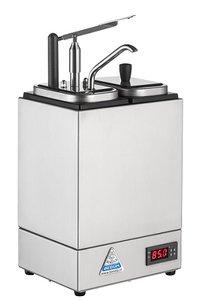 Sauzenbar verwarmd 2-delig met 1 NEOdis dispenser en 1 deksel