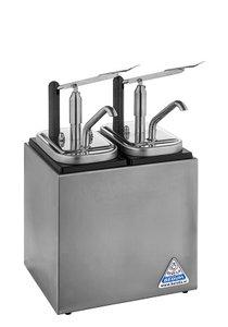 Sauzenbar onverwarmd 2-delig met 2 NEOdis dispensers