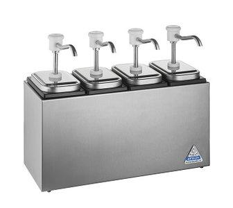 Sauzenbar onverwarmd 4-delig met 4 BCMK drukknopdispensers