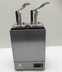 Sauzenbar verwarmd 2-delig met 2 NEOdis dispensers